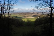 View across the Weald from Blackcap on the South Downs