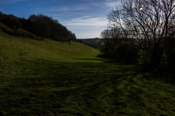 Lower slopes of West Hill