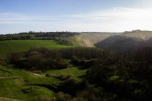 Devil's Dyke from above the chalk pit on Newtimber Hill